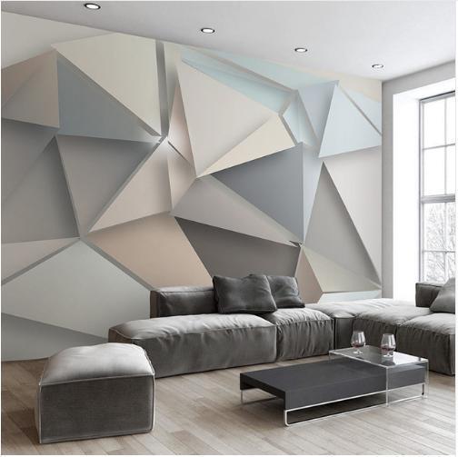 Großhandel Foto Wand Papier 3D Modern TV Hintergrund Wohnzimmer Abstrakt  Kunst Wandbild Geometrische Wandbild Tapete Von Privygarden, $19.1 Auf ...