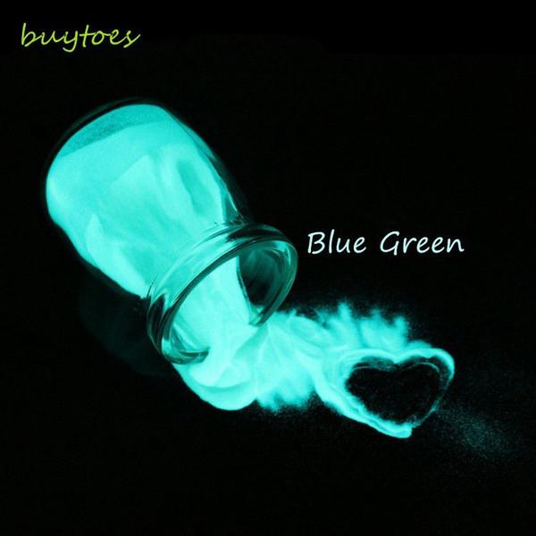 BUYTOES 50g poudre de lueur verte bleue Pigment lumineux de phosphore pour l'impression de peinture de DIY, lueur dans la poudre foncée de poudre pour le vernis à ongles de DIY