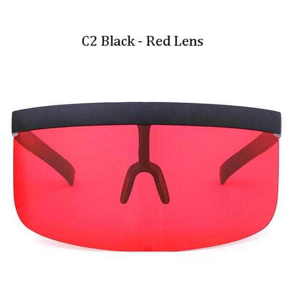 C2 Black Frame Red Lens