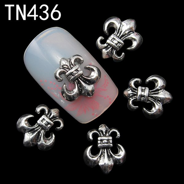 10pc Black Alloy Glitter 3d Nail Art Anchor Decorations with Rhinestones,3D Nail Charms,Jewelry on Nails Salon Supplies TN436