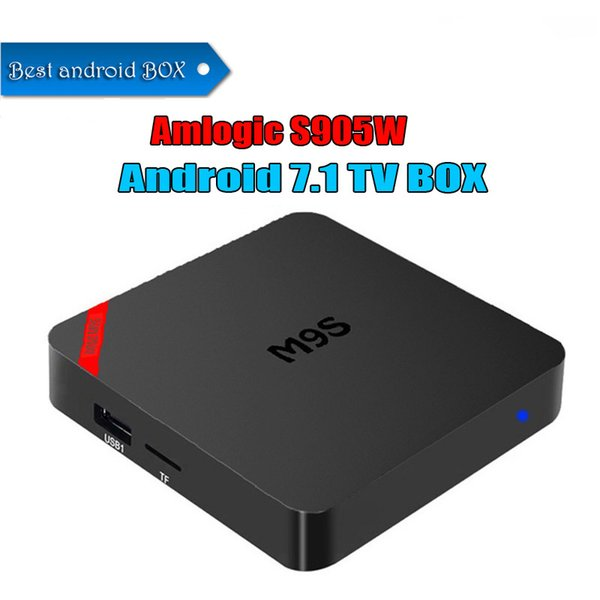 Cheapest M9S MINI Android 7.1 TV BOX Amlogic S905W Marshmallow Smart Box 4K Mini PC Wifi HDMI ROM 8GB IPTV media box BETTER TX3 X96 MINI
