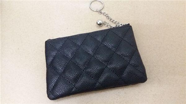 Dress style mini clutch purse women caviar zipper design wallets bolsas femininas vogue classic black diamond lattice zero wallet