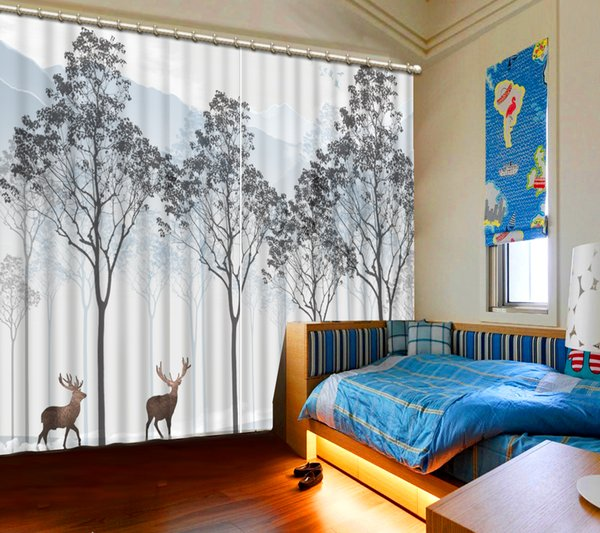 2019 Blackout Curtains Tree Animals 3D Curtains For Bedroom Window Curtain  Living Room Modern Style From Yiwu2017, $200.0 | DHgate.Com