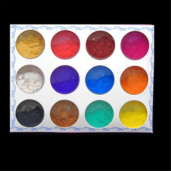 Nail Glitter Sequins Powder Shell Pearl Look Shinny Holo Flakes Chrome Holographic Rainbow Pigment Diy Eyeshadow Dust 12 Colors