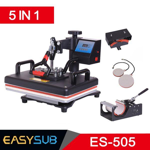 Cheap 30*38CM 5 in 1 Combo Heat Press Printer Sublimation Machine Heat Press Printer for T-shirts Plates/Cap/Mug/Phone Covers