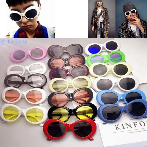 Gafas de protección NIRVANA Gafas Kurt Cobain Gafas de sol alienígenas Clásico Vintage Retro Estilo ovalado Superestrella Punk Rock Glasse GGA623 100 UNIDS