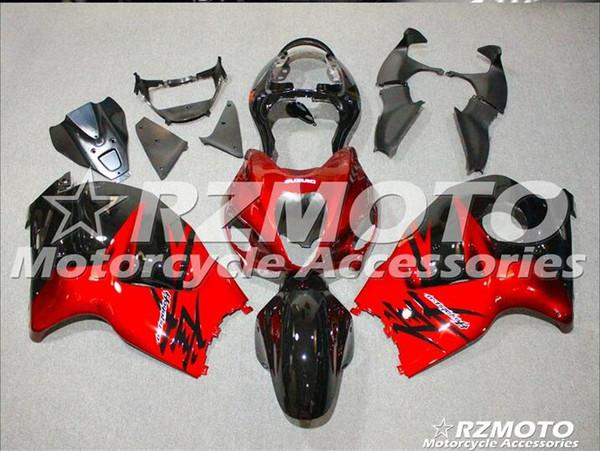 Nouveau Hot ABS en plastique Kits de carénage de la moto 100% Fit Pour suzuki GSXR1300 97 98 99 0107 Hayabusa 1997 1998 2007 GSX-R1300 Noir Rouge F20