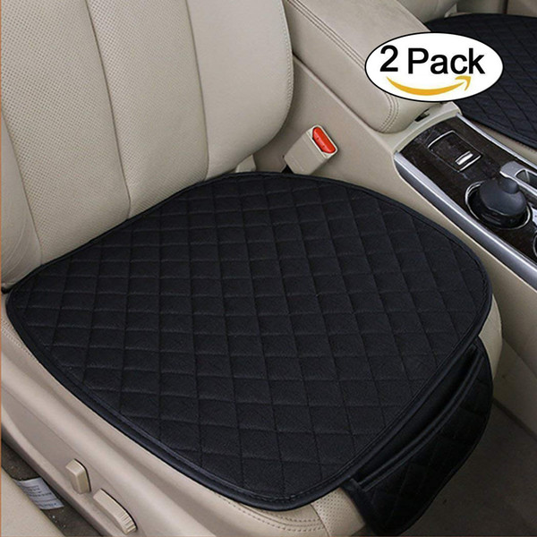 2Pcs Car Interior Seat Cover Front Seat Cushion Pad Mat Seat protector for Car Auto Supplies Office Chair-Universal Fit
