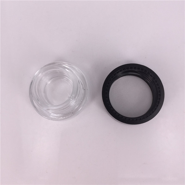 2g 5ml clear glass jar container with plastic lid For Lip Balms, Creams, wax Oils, Salves, Lotions, Make Up, Cosmetics, Nail Accessorie