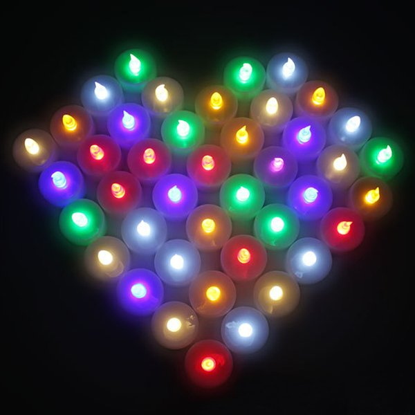 top popular colorful christmas lights led candles tea lights Flicker Flameless LED Tealight Tea Candles Lights holders Wedding Birthday Party Decoration 2019
