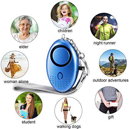 best selling 130db Personal Security Alarm Keychain Safety Emergency Alarm with LED Light and SOS Emergency Alarm for Elders Women Kids