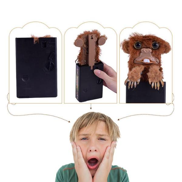 Innovative Pet Pranksters Toys Scary Fur Monkey Spoof Prank Toy Plastic Brown Surprise Jitters Tricky Funny Finger Monkey