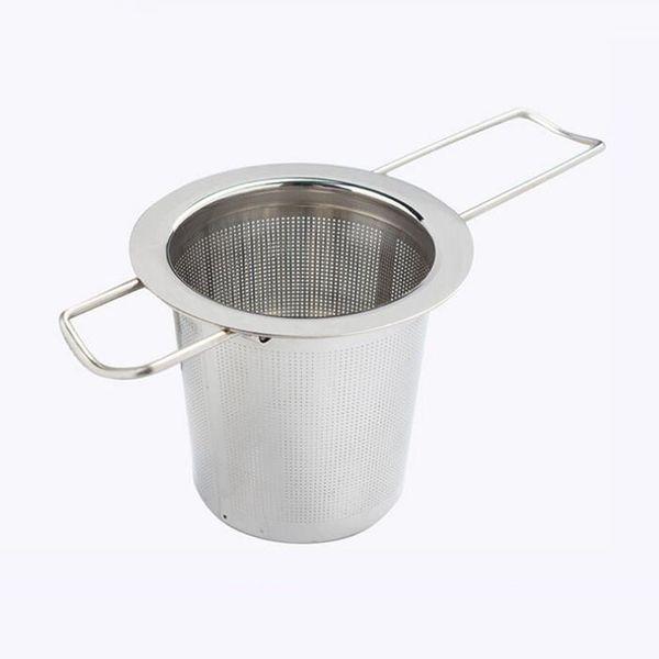 Reusable Stainless Steel Tea Strainer Infuser Filter Basket Folding Tea Infuser Basket For Teapot Tea Tool QW7186
