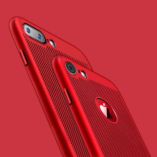 4673541023be For IPhone XS Max XR X 8 7 6 6S Plus Case Ultra Slim Grid Heat Dissipate  Case For Samsung S8 S9 Note 9 Luxury Matte Hard PC Protective Cover  Silicone ...