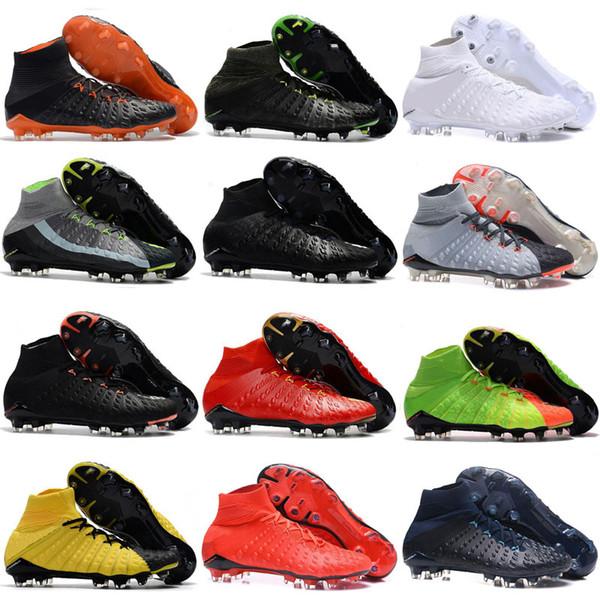Chaussures de football FG de haute cheville 2018 pour hommes Hypervenom Phantom III chaussures de football DF neymar IC chaussures de football pour chaussures de football pour hommes pas cher