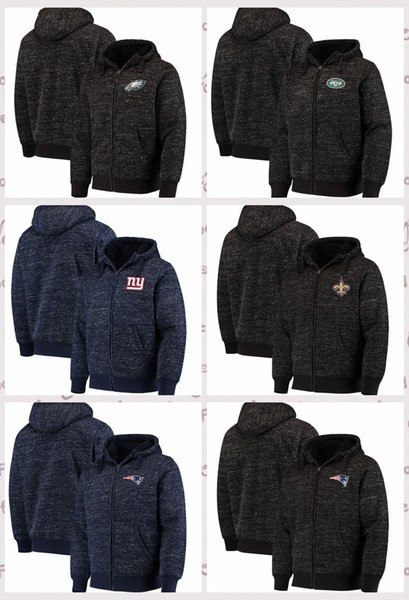 wholesale dealer 74786 f444b 2019 Philadelphia Eagles New York Jets New York Giants G III Sports By Carl  Banks Discovery Sherpa Full Zip Jacket Heathered Black OR Navy From ...