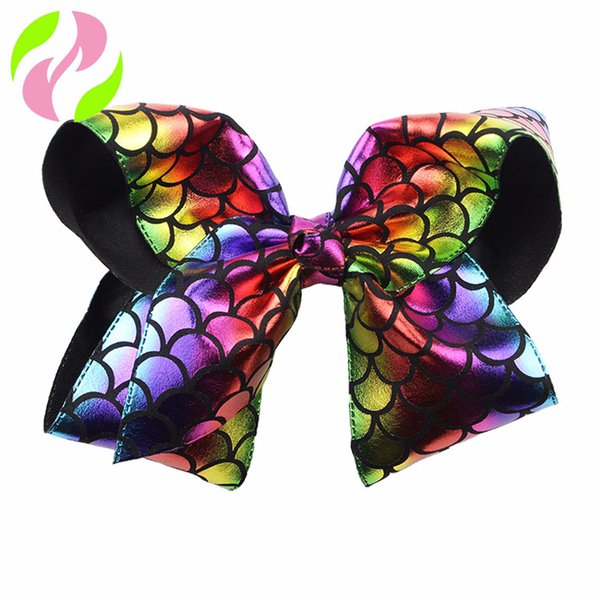 8 Colors Fashion Baby Ribbon Bow Hairpin Clips Girls Large Bowknot Barrette Kids Hair Boutique Bows Children Hair Accessories 20CM