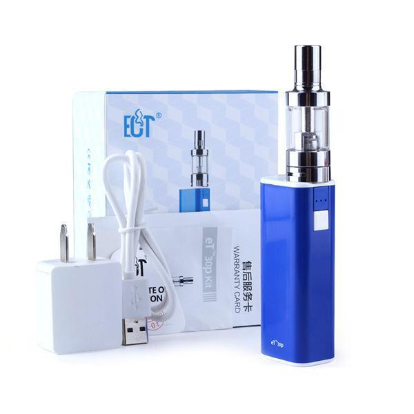 Atacado HOT ECT eT30p Cigarro Eletrônico vaporizador 30 W caixa mod 2200 mah E cig bateria com Mini nevoeiro controle de fluxo de ar atomizador ET30P kits