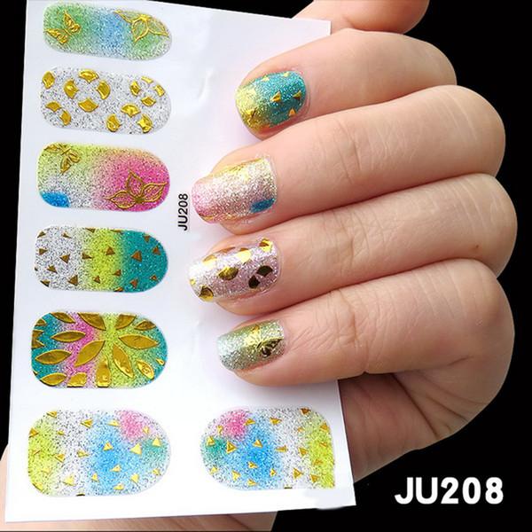 1 feuille 3D Nail Sticker Water Decal Nail Art Décorations De Mode Bright Coloré Art Transfer Sticker pour Manucure DIY Conseils