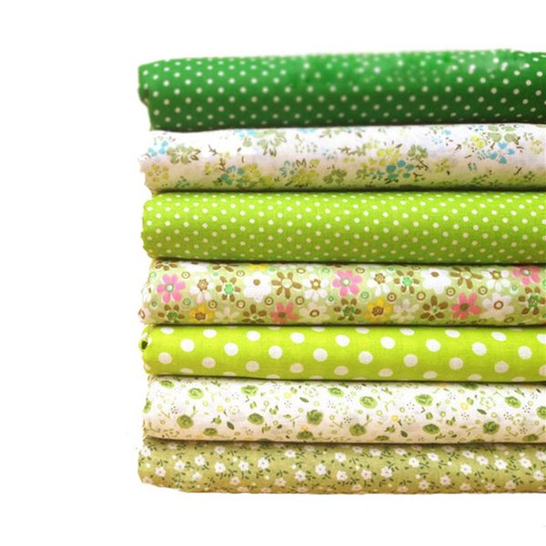 Hoomall 7PCs Cotton Fabric Handmade Sewing Home Decor Material Fabrics For Patchwork Curtains Felt For Needlework DIY 25x25cm