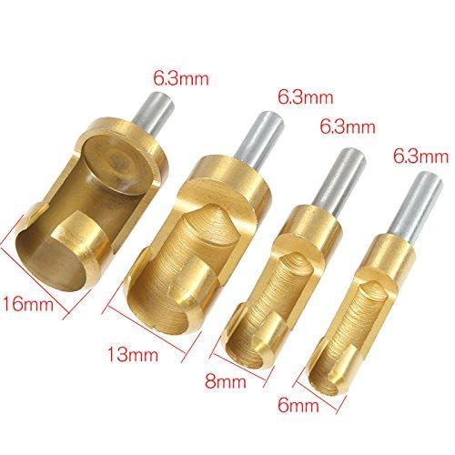 Plug cutter per avvitatori attacco 1//4 per creare tappi tasselli di legno da 12