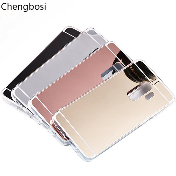 Mirror Soft TPU Mirror Back Cover Phone Case for Samsung Galaxy Grand Prime Note 8 9 S6 S7 Edge S8 S9 Plus Luxury Soft Cases