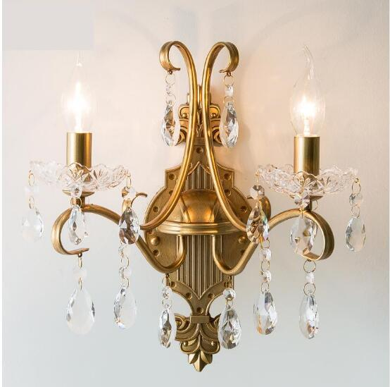 svitz Nordic Retro Wrought Iron Wall Lamp sconce Living Room Bedroom Aisle Restaurant Creative gold Wall Light Led candle Fixtures