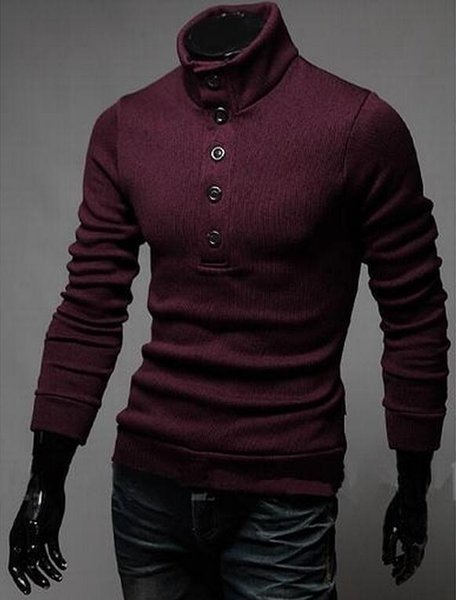 Fashion- The New Men€s Classic Sweater Turtle Neck Turtleneck Sweater Cultivate One€s Morality Men€s Sweaters.