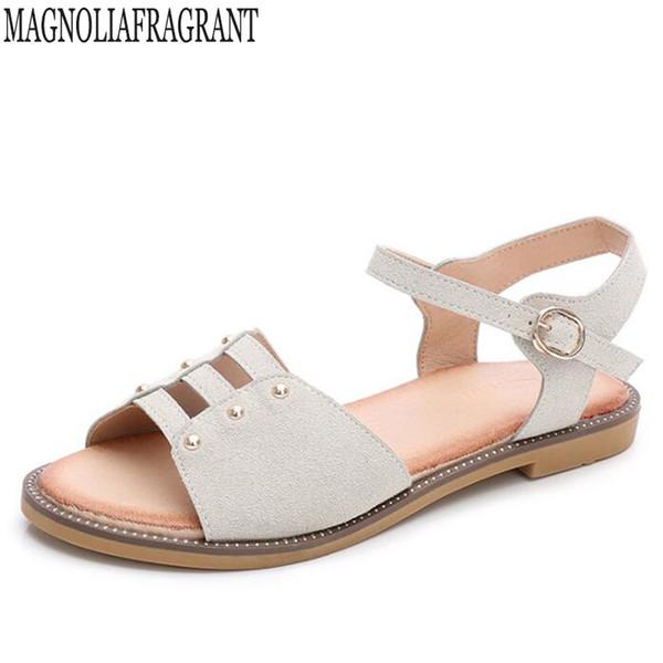2018 Plus Size Flats Sandals Summer Women Sandals Fashion Casual Shoes For Woman Rome Style Sandale Femme sandalias mujer w40