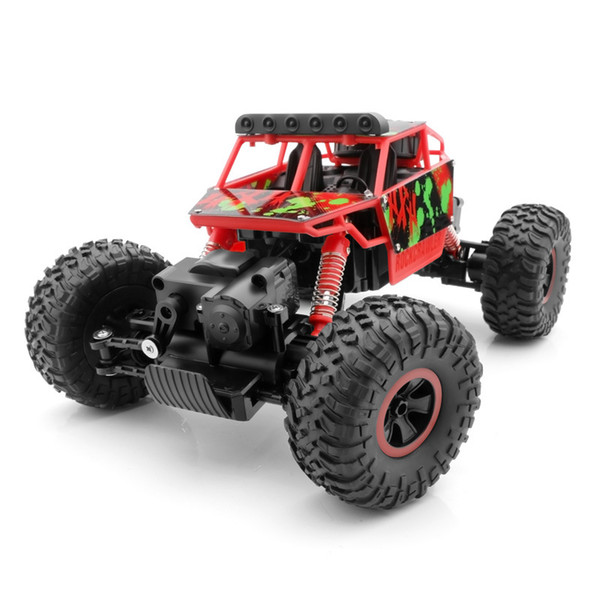 1:18 remote control car 4WD double steering 2.4G climbing vehicle model high speed off road vehicle toy birthday gift