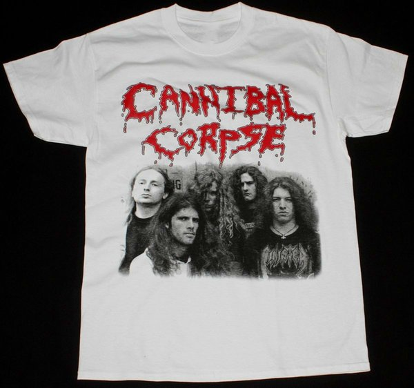 CANNIBAL CORPSE CLASSIC LINE UP DEATH METAL GRINDCORE NILE NEW WHITE T-SHIRT Summer Fashion Funny Print T-Shirts Dress