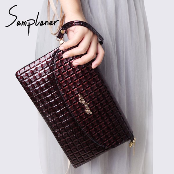 New Arrival Evening Bags For Women Clutches Leather Brand Plaid Envelope Bag Casual Party Clutch Bag For Female Crossbody Bags
