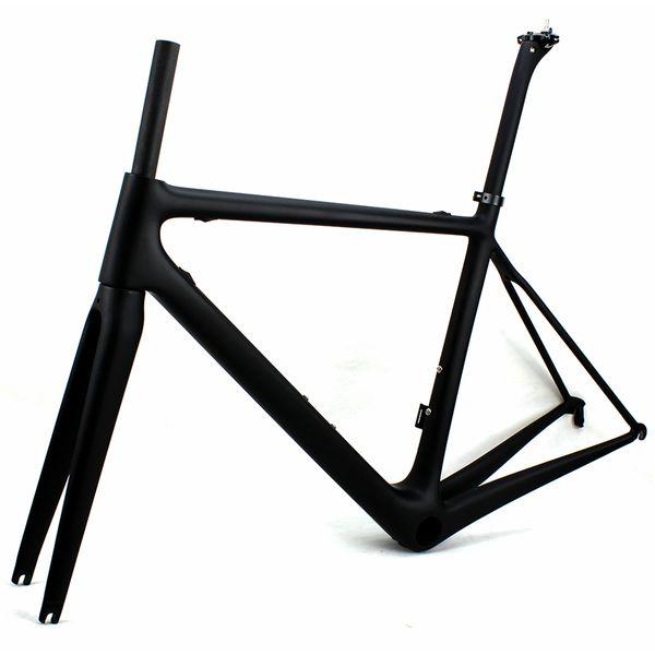 Superlight Karbon yol bisikleti çerçeveleri Siyah mat yarış bisiklet çerçeve bisiklet frameset HIÇBIR çıkartmaları vernik