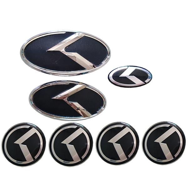 Углеродного волокна черный автомобиль стикер K логотип полета передний задний капот эмблема Badg для KIA K5 2011-2013 Optima Forte 2009-2014 Senda