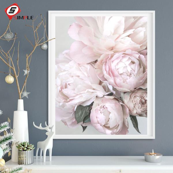 Acheter Nordic Fleurs Affiches Imprimer Blush Pivoine Mur Photos Pour Salon Moderne Scandinave Photos Art Toile Peinture Décor De 2541 Du Aliceer