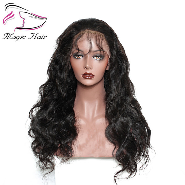 Evermagic Long Lace Front Human Hair Wigs With Baby Hair Pre-Plucked Hairline Brazilian Remy Body Wave Full Lace Human Hair Wigs For Women