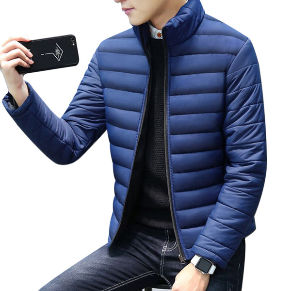 2018 Winter Warm Mens White Duck Down Jacket Fleece Coat Ultra Light Goose Down Jacket Plus Size 3XL 4XL Slim Fit Male Parka
