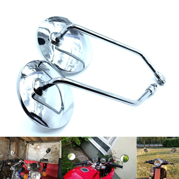 For Universal Motorcycle Mirrors accessories side retroviseur espejos moto Rear View Scooter RearView Mirrors FOR Yamaha BMW Bajaj