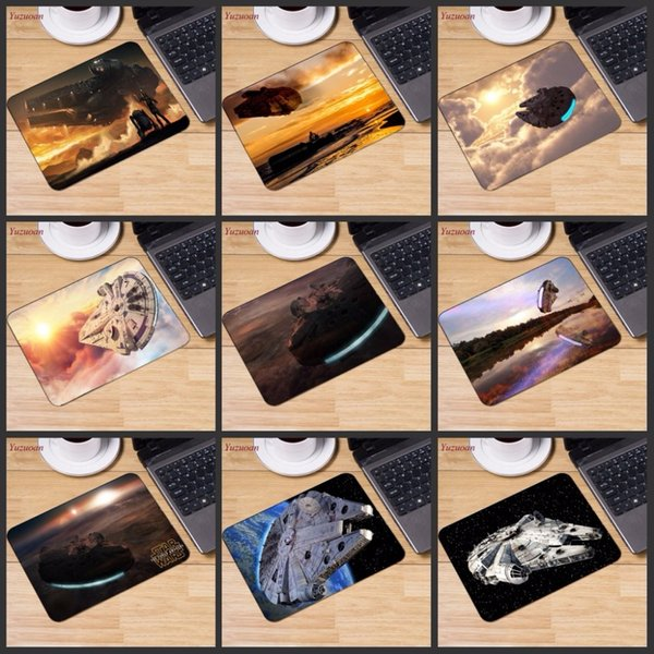 Yuzuoan Big promotion Russia Movie Designs Gaming Speed Rubber mouse pad gamer play mats Small Size for 180*220*2mm