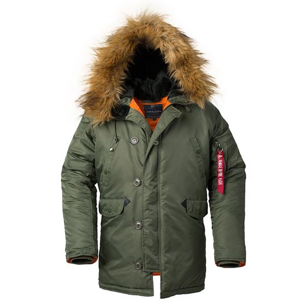 Großhandel Jacke Männer Lange Kanada Mantel Militär Pelz Kapuze Warme Graben Tarnung Taktische Bomber Armee Parka Männer US Größe Von Despicable_me,