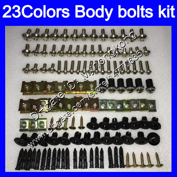 Fairing bolts full screw kit For KAWASAKI NINJA ZX10R 08 09 10 11 ZX 10R ZX-10R 2008 2009 2010 2011 Body Nuts screws nut bolt kit25