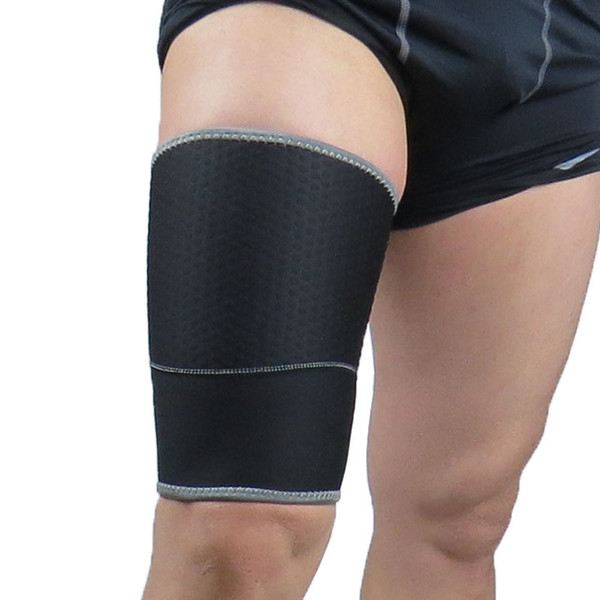 Black Thigh Pad Diving Fabrics Mens Leg Warmers Breathable Compression Sleeve Leggings Support Thigh Sport Accessories