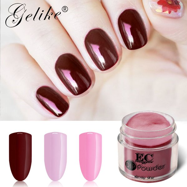 Dip Powder Nail Polish Set Natural Clear Color Manicure Primer Gel Barniz Crecer Secado rápido Polvo Acrílico Decoraciones