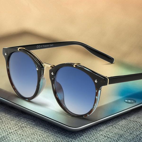 2018 Classic Brand Designer Sunglasses Women Men Retro Round Sun Glasses Woman shades Mirror Eyewear Lady Male Female Sunglass