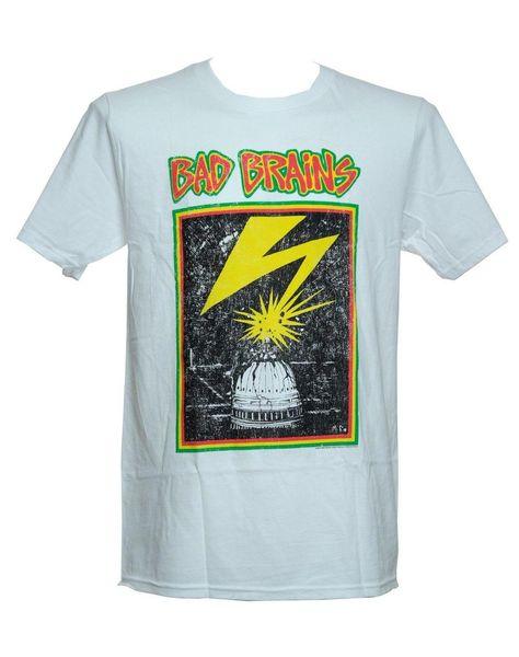 BAD BRAINS-белый Капитолий-официальная лицензионная футболка-только новый 2XL