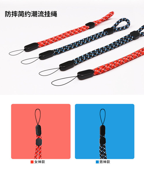 Adjustable red round Wrist phone Straps Hand Lanyard for Phones iPhone Samsung Camera For GoPro USB Flash Drives Keys For PSP 1000pcs/lot