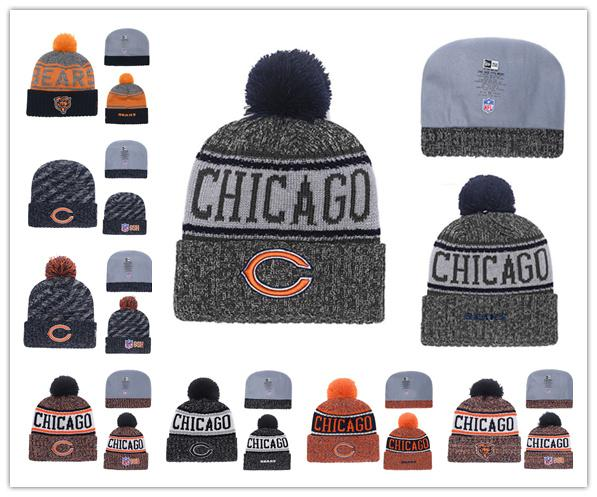 e15a27a1 2018 2019 Winter Chicago Hat Bears Beanie Hats For Men Women Knitted Beanie  Wool Man Knit Bonnet Beanies Warm Football Cap From Pink_panther, $15.23 |  ...