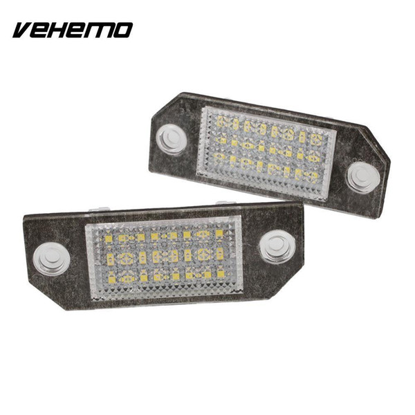 Vehemo 2Pcs 12V White 24 LED Number License Plate Light Lamp for Ford Focus C-MAX MK2