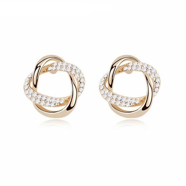 Nuevos estilos de joyería de mujer pendientes de perlas de cristal austríaco joyería elegante simple de señora Accesorios de diseñador