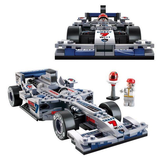 Ladrillos Juguetes Racing Car Plastic Building Block Set Niños Puzzle Enlightenment Montado Juguetes Niños Regalo Educativo